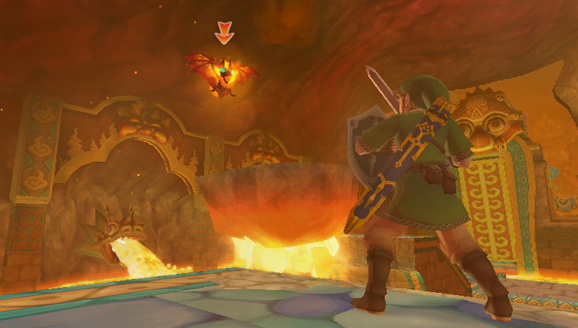 "Fire Keese, which is Hylian for ""oh shit it's a fucking fire bat"""