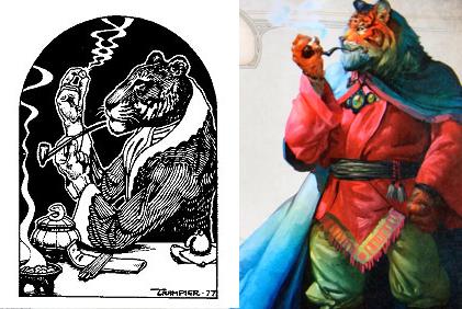 Pipe-smoking tigermen through the ages