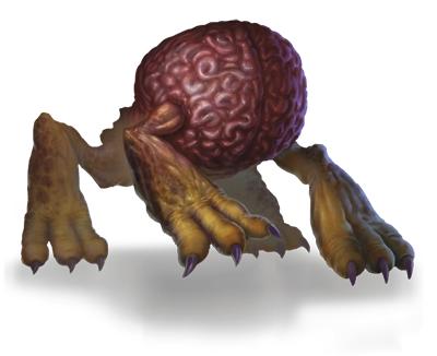 Ah, the fearsome intellect devourer: a brain on four legs.
