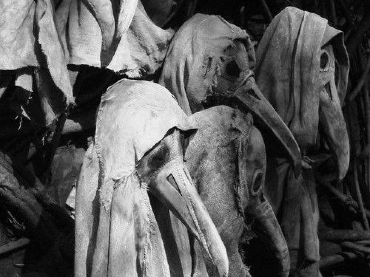These plague doctors have great bedside manner with their creepy hoods and long-nosed bird masks