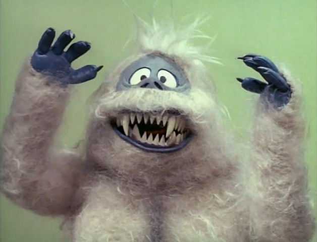 The Abominable Snowman from Rankin/Bass's claymation movie, Rudolph the Red-Nosed Reindeer