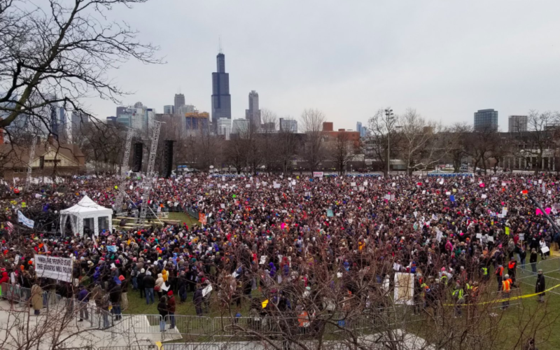 The crowd at Chicago's March for Our Lives fills Union Park.